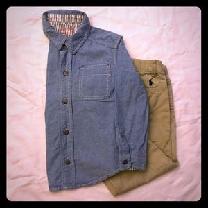 Genuine Kids Boys 5T Casual Button Dress Shirt